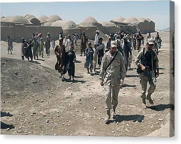 Villagers From Nojoy Outside Kandahar Canvas Print by Everett