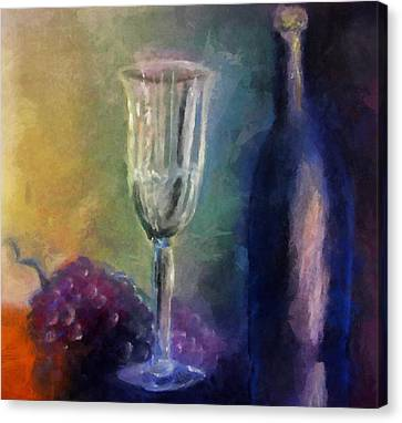 Vino Canvas Print by Michelle Calkins