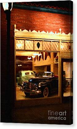 Vintage American Car Dealership - 7d17398 Canvas Print by Wingsdomain Art and Photography