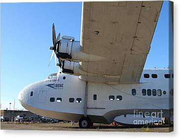 Vintage Boac British Overseas Airways Corporation Speedbird Flying Boat . 7d11291 Canvas Print by Wingsdomain Art and Photography