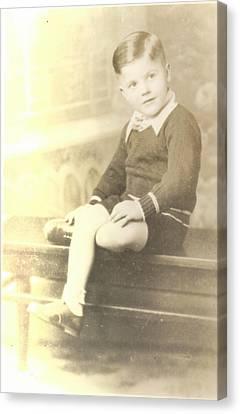 Vintage Boy Crossed Leg Canvas Print by Alan Espasandin