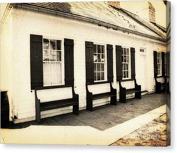 Vintage Building 2 Canvas Print by Emily Kelley