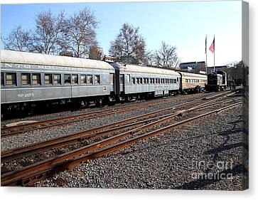 Vintage Railroad Trains . 7d11623 Canvas Print by Wingsdomain Art and Photography
