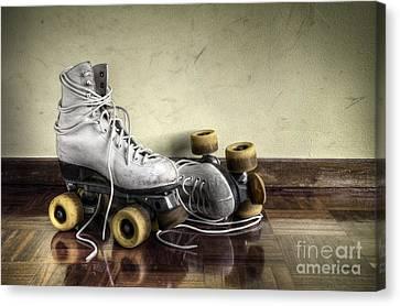 Vintage Roller Skates  Canvas Print by Carlos Caetano