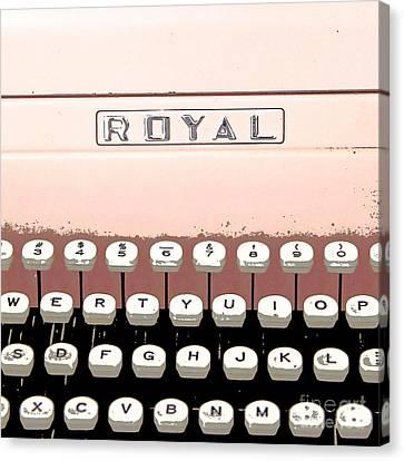 Vintage Royal Typewriter Canvas Print by Glennis Siverson