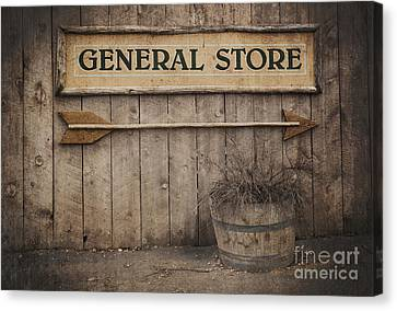 Vintage Sign General Store Canvas Print by Jane Rix