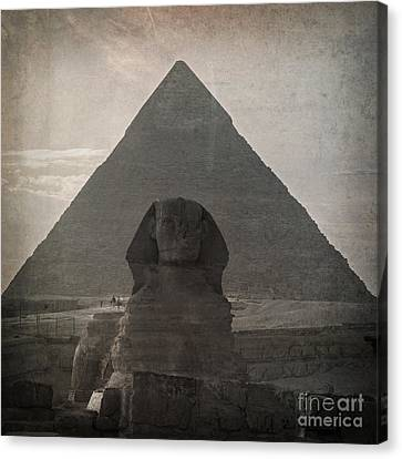 Vintage Sphinx Canvas Print by Jane Rix