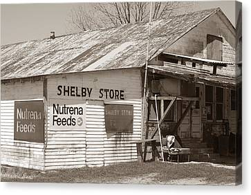 Vintage Store In Shelby Canvas Print by Connie Fox