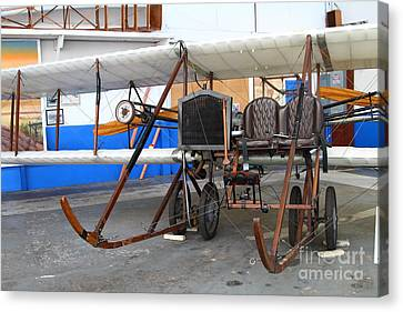Vintage Wright Brothers Type Airplane . 7d11147 Canvas Print by Wingsdomain Art and Photography