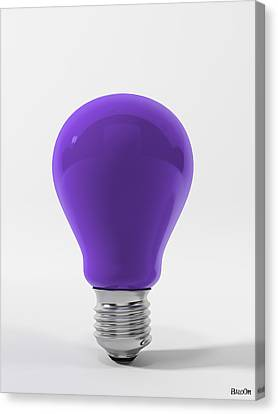 Violet Lamp Canvas Print by BaloOm Studios