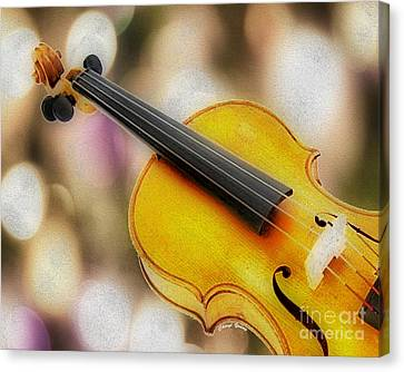 Violin Canvas Print by Cheryl Young