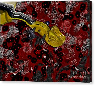 Violinelle - V02-12a Canvas Print by Variance Collections