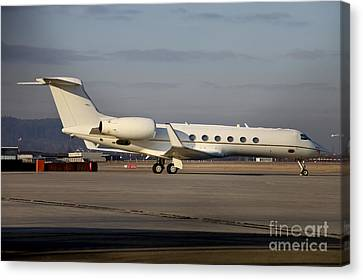 Vip Jet C-37a Of Supreme Headquarters Canvas Print by Timm Ziegenthaler