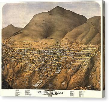 Virginia City Nevada 1875 Canvas Print by Donna Leach