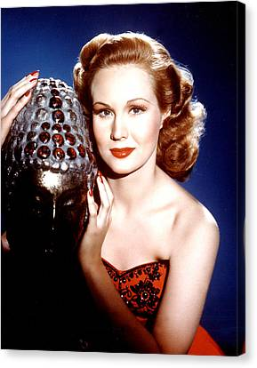 Virginia Mayo, Portrait Ca. 1940s Canvas Print by Everett