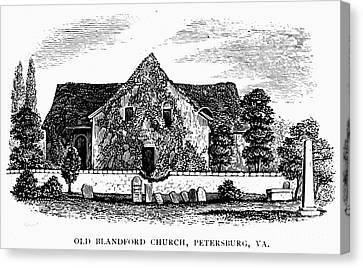 Virginia: Petersburg Church Canvas Print by Granger