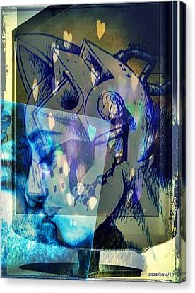 Virtual Kiss 1 Canvas Print by Paulo Zerbato