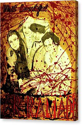 Visit Beautiful Ar Ramadi Canvas Print by Michelle Dallocchio