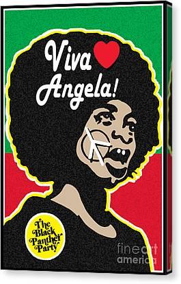 Viva Angela Davis Canvas Print by Stanley Slaughter Jr