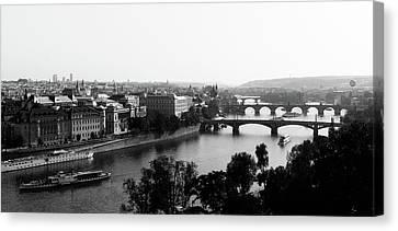 Vltava River At Prag Canvas Print by Jörg Wendland