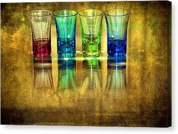 Vodka Glasses Canvas Print by Svetlana Sewell