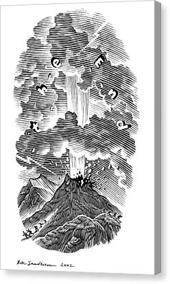 Volcanic Eruption, Artwork Canvas Print by Bill Sanderson