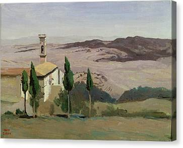 Volterra Canvas Print by Jean Baptiste Camille Corot