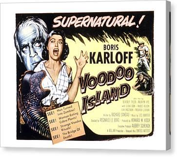 Voodoo Island, Beverly Tyler, Boris Canvas Print by Everett