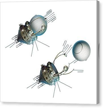 Vostok 1 Capsule Separation, Artwork Canvas Print by Detlev Van Ravenswaay