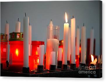 Votive Candles Canvas Print by Gaspar Avila