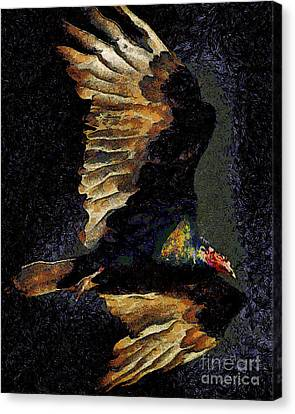 Vulture In Van Gogh.s Dream Returns . 40d8879 Canvas Print by Wingsdomain Art and Photography