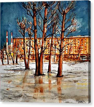 W 51 Moscow Canvas Print by Dogan Soysal