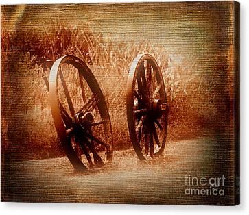 Wagon Wheels Canvas Print by Ms Judi