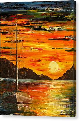 Waiting For The Sunrise Canvas Print by AmaS Art