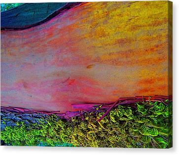 Canvas Print featuring the digital art Walk Into The Future by Richard Laeton
