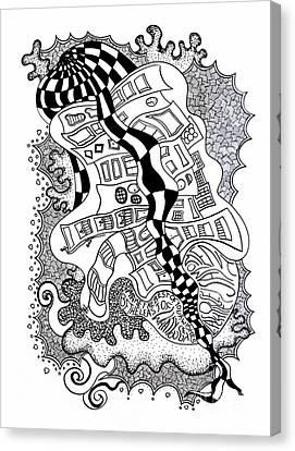 Walking By Canvas Print by Fla Arakaki