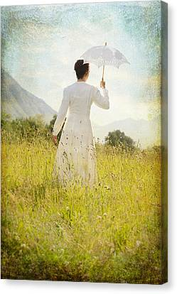 Walking On The Meadow Canvas Print by Joana Kruse