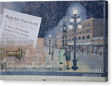 Wall Art Moose Jaw 2 Canvas Print by Bob Christopher