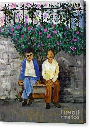 Wallflowers Canvas Print by Hilary England