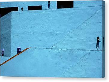 Walls In Blue Canvas Print by Piet Scholten