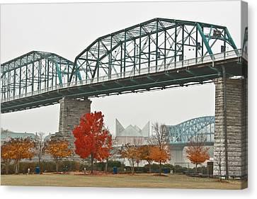 Walnut Street Bridge Canvas Print by Tom and Pat Cory