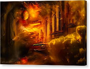 War And Death Canvas Print by Svetlana Sewell