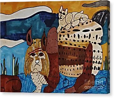 Wary Bobcat Canvas Print by Stephanie Ward