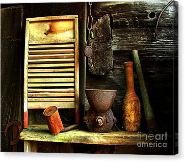 Washboard Still Life Canvas Print by Julie Dant