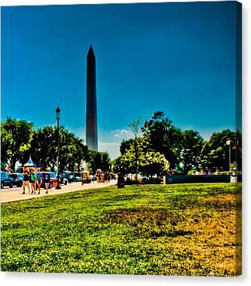 Washington Monument Canvas Print by David Hahn