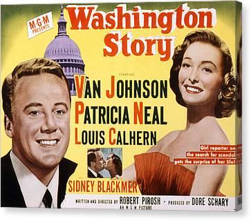 Washington Story, Van Johnson, Patricia Canvas Print by Everett