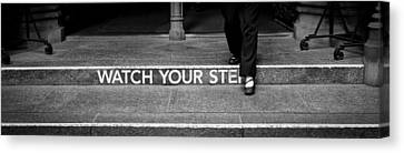 Watch Your Step Canvas Print by Michael Avory