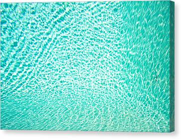 Water Background Canvas Print by Tom Gowanlock