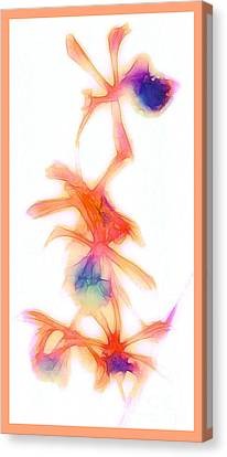 Water Color Orchids Canvas Print by Judi Bagwell