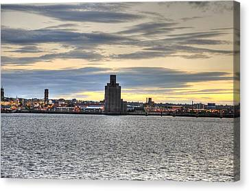 Water Front Liverpool Canvas Print by Barry R Jones Jr